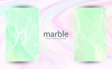 Two Paintings With Marbling. Marble Texture. Paint Splash. Colorful Fluid. It Can Be Used For Poster, Brochure, Invitation, Cover Book, Catalog. Vector Illustration