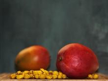 Two Halves Of Juicy Ripe Pears...