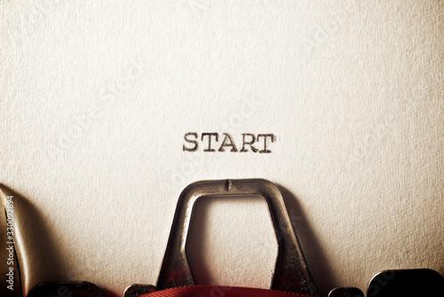 Start concept view Canvas Print