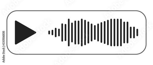 Obraz na plátne Voice message icon, design for any purposes.