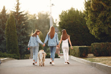 Beautiful Girls Walking. Women...