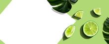 Fresh Green Limes Overhead Vie...