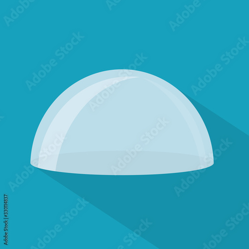 Fotografía transparent glass dome icon- vector illustration