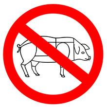 No Animal Meat Sign, Vegetaria...