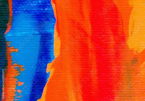 Fotografija Multicolor brush strokes in oil structure
