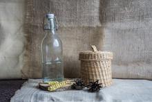 .Still Life With Cones, A Glas...