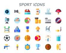 Modern Simple Set Of Sport Vec...