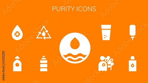 Carta da parati purity icon set