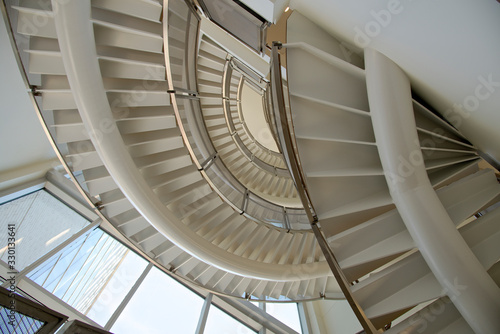 Fototapety, obrazy: Contemporary architecture with spiral staircase