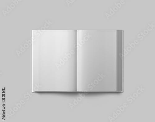 Fotografie, Tablou Hardcover book mockup. Open book.