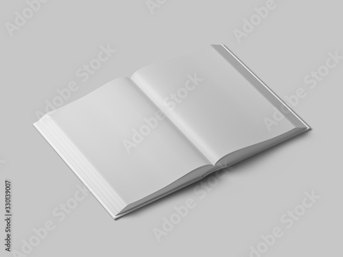 Hardcover book mockup. Open book. Fototapet