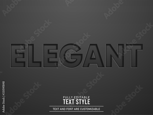 Elegant Engraved Black Leather Text Effect Slika na platnu