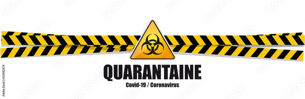 Fototapeta Coronavirus Covid-19 / quarantaine