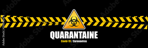Obraz Coronavirus Covid-19 / quarantaine - fototapety do salonu
