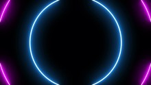 Glowing Circle Neon Lights 7