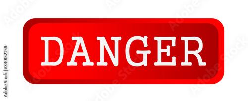 Photo danger sign on white background