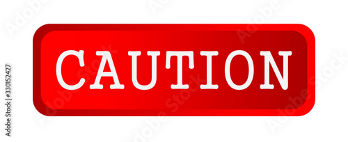 caution sign on white background Canvas Print