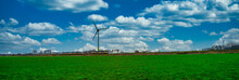 Dutch Landscape With Wind Turb...