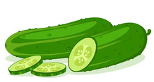 Cucumber And Half With Sliced ...