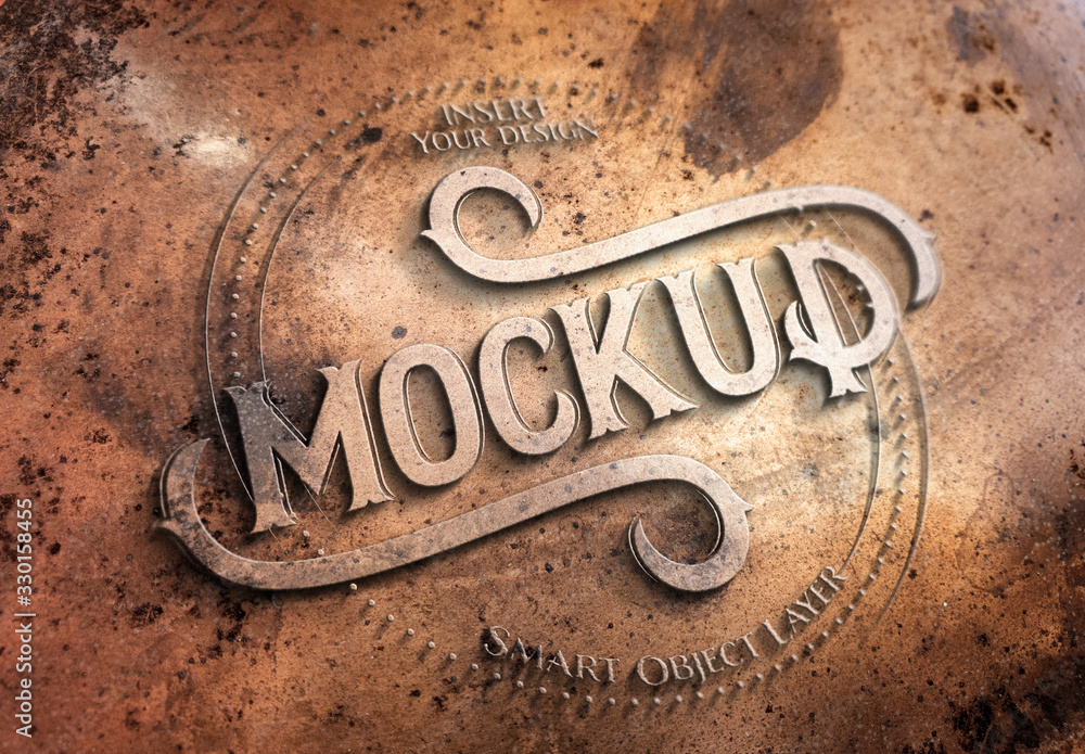Fototapeta Copper Metal Text Effect Mockup
