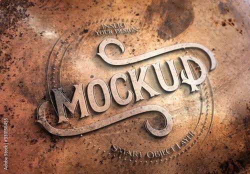 Fototapeta Copper Metal Text Effect Mockup obraz