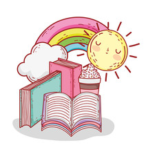 Books Smoothie Rainbow And Sun...