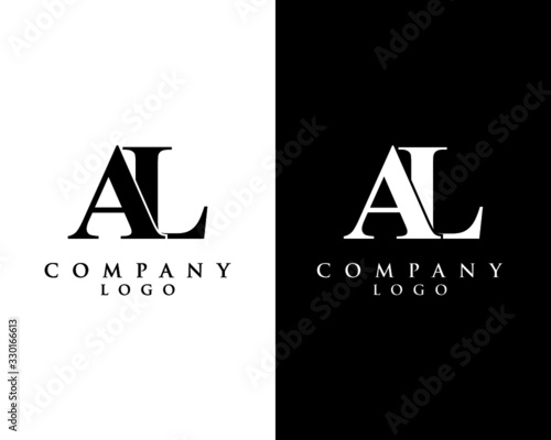 Photo al, la modern initial logo design vector, with white and black color that can be used for any creative business