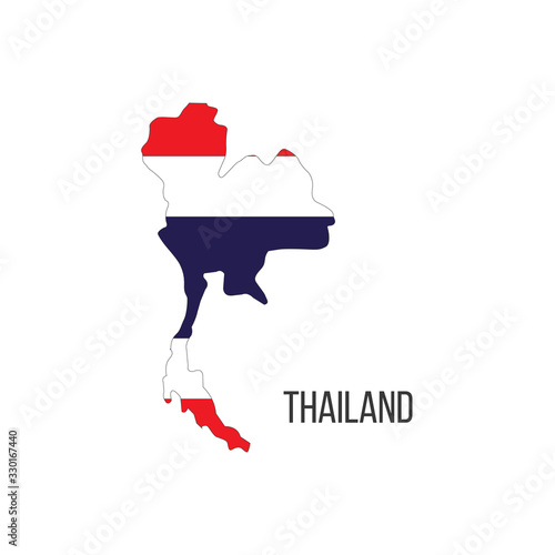 Photo Thailand flag map