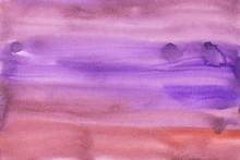 Watercolor Purple And Coral Ba...