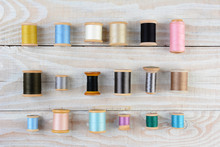 Vintage Spools Of Sewing Threa...