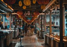 Interior Of Market In China