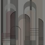 A group of curved lines overlapped - 330201040