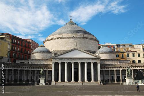 The church of San Francesco di Paola, Naples, Italy Tablou Canvas