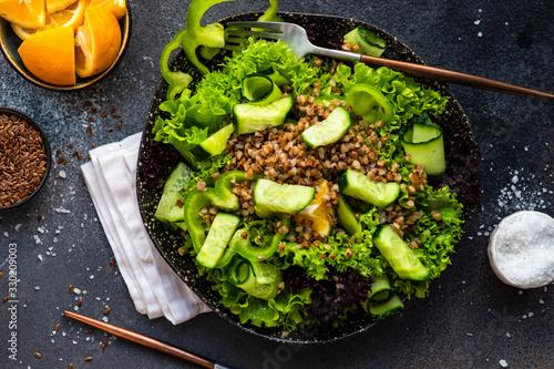 Obraz Organic vegan salad concept - fototapety do salonu