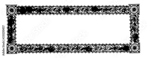 Valokuva Ornate banner have a old pattern design in its very large width borders, vintage engraving