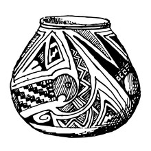 Mexican Jar With Serpant Desig...