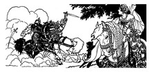 Una And The Red Cross Knight, Vintage Illustration