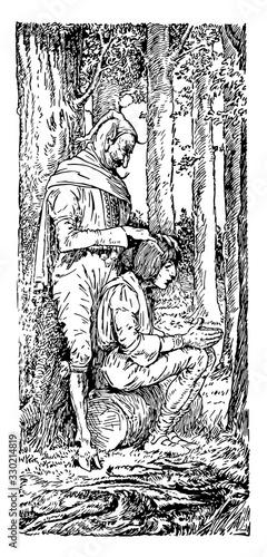 Photo Bearskin, vintage illustration