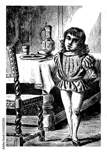 Vászonkép Little Tom Tucker, vintage illustration