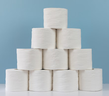 Rolls Of Toilet Paper Stacked ...