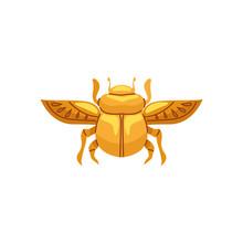 Beetle Egyptian Symbol Isolate...