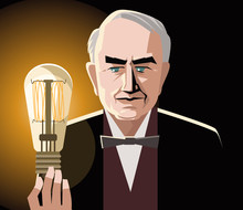 Great Inventor With A Light Bulb