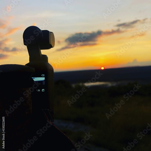 Photo Osmo pocket getting a Time lapse of the sunset on the Appalachian Trail