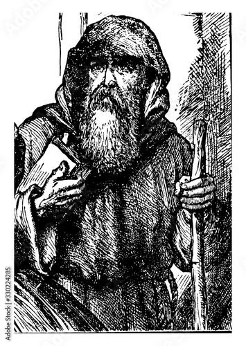 Obraz na plátne Friar Lawrence, vintage illustration