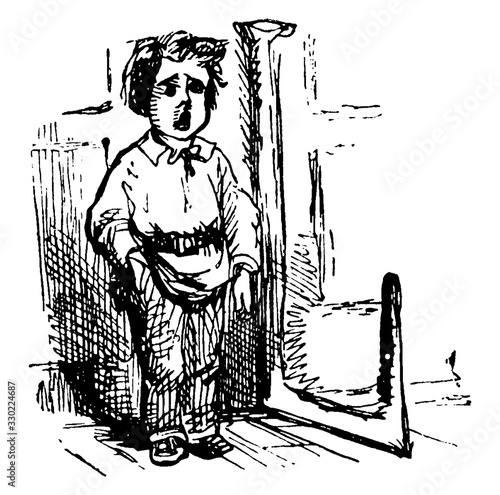 Little Tom Tucker, vintage illustration Tapéta, Fotótapéta