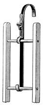 Roof Ladder Hook, Vintage Illu...