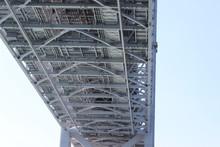 Underside Of The Akashi Kaikyo Bridge, The Longest Central Span Of Any Suspension Bridge In The World / 明石海峡大橋