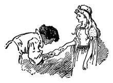 Dancer, Vintage Illustration
