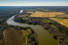 Aerial Photo Winding River Wit...