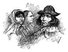 Cherokee Indians, Vintage Illu...